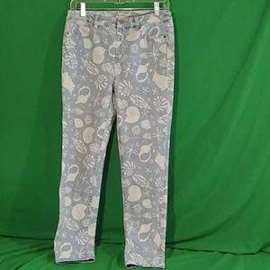 Soft surroundings small nautical shell print jeans
